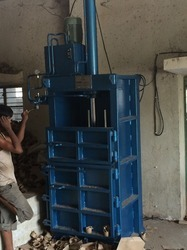 vertical type waste paper baling machine