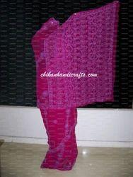womens georgette border palla chikan saree