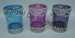 Decorative Round Glass Votive