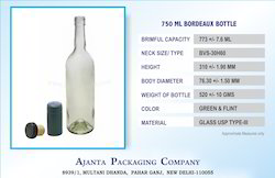 750 Ml Wine Bottle Clear