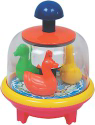push and spin toy duck