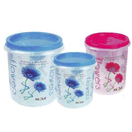 Plastic Containers Floral Plastic Containers Manufacturer from Jaipur