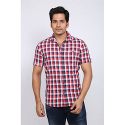 Fancy Checked Mens Cotton Shirts