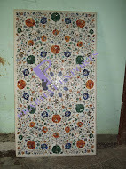 Inlay Work with Marble Table Top