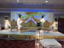 Asian Wedding Elegant Stage Sofa Set