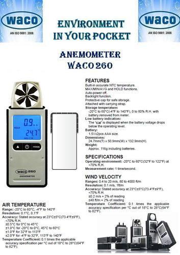 Anemometer Waco Make Pocket Type