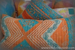 Kantha Sari Pillow