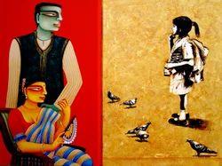 Gautam+Mukherjee+%28+Acr+On+Canvas+%29+Paintings