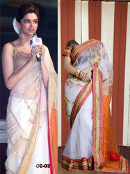 Bollywood White Color Latest Stylish Exclusive Saree