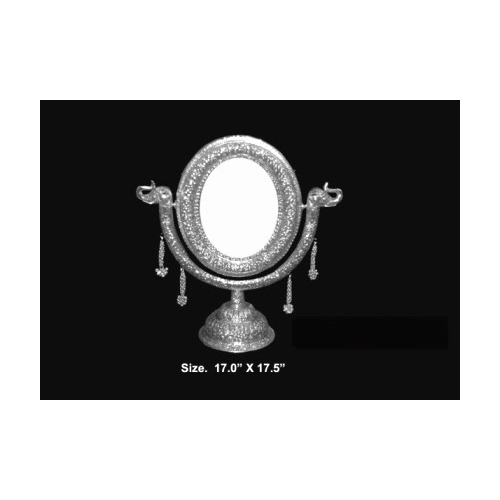 Silver Plated Stand Mirror