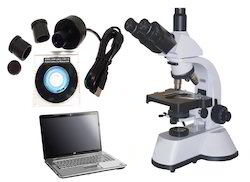 Compound Microscope with USB Camera, Measuring Software & PC