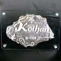 Glass and Stone Creative Name Plate