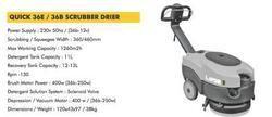 QUICK 36E / 36B - SCRUBBER DRIER