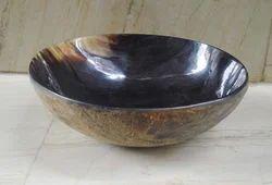 Buffalo Horn Bowls with Natural Skin