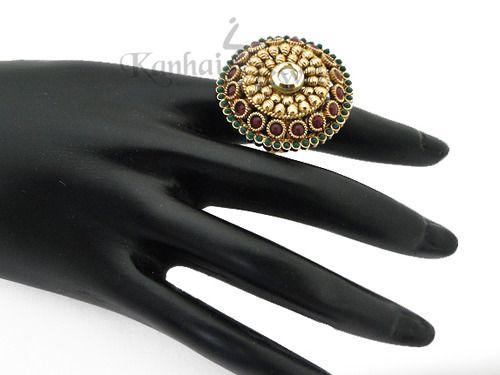 Stone Stud Finger Ring