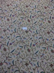 Kashmir Cotton Base Crewel Home Furnishing Fabric.