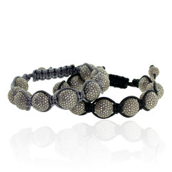 Diamond Beaded Macrame Bracelet