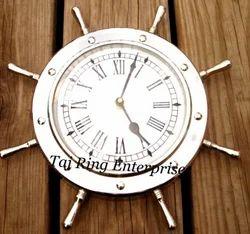 Nautical Wheel Decor Clock