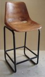 Leather Seat Bar Chair