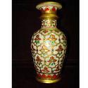 Attractive Vase In White with Carving