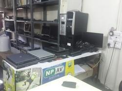 old laptop and computer showroom