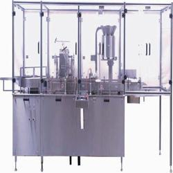 Automatic Vial Filling/Rubber Stoppering and Sealing Machine
