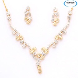 Designer Diamond Necklace Jewelry Set