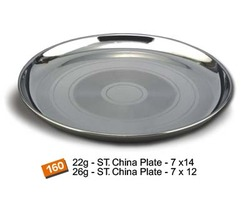 Stainless Steel Buffet Dinner Plates (China Thali / Tray)