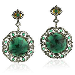 Emerald Gemstone Drop Earrings