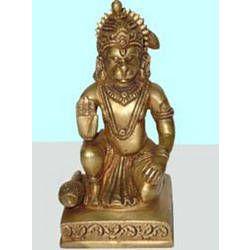 Hanuman Sitting B/ Hand on Sq. Base