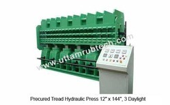 precured tread hydraulic press