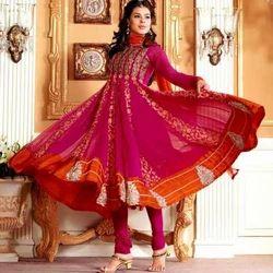 Designer Semi Stitched Anarkalis Suit