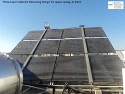 three layer collector solar water heater