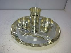 Silver Round Thali Sets