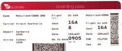 Airline Boarding Pass Labels