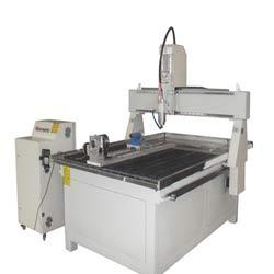 Wood CNC Router with Turn Mill