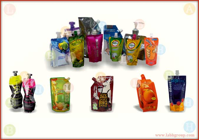 Prined Bags with Spout