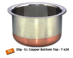 Copper Bottom Steel Top Topes