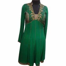 Neck+Design+Indo+Western+Dress