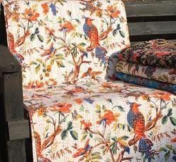 Bird Print Kantha Quilts