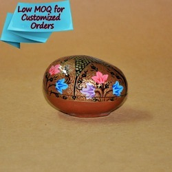 Hand Painted Multi- Color Flowers - Paper Mache Egg Box