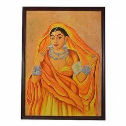 rajasthani lady mural paintings