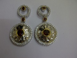 Sterling Silver Fancy Earring