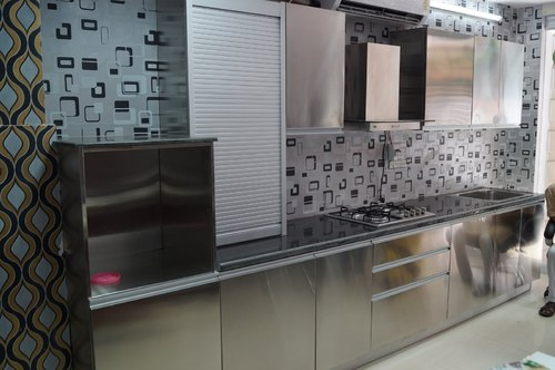 Stainless Steel Modular Racks Designer Modular Kitchens