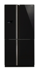 French Door Refrigerator with Glass Black door finish