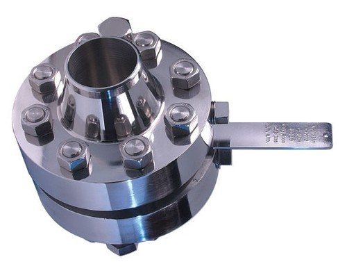 Orifice plate with flange assembly at rs