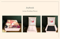 joy book wedding invite