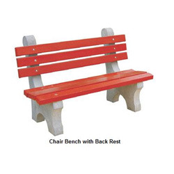 Chair Bench with Back Rest
