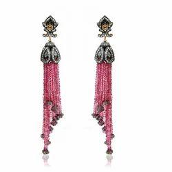 Pink+Tourmaline+Earring