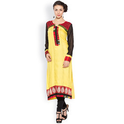Ladies Kurtis Off White Churidar Legging